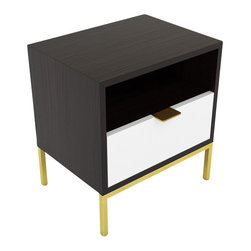 Seed Furniture - The Silverlake Side Table - Our Silverlake bedside table combines the best of function and design, into a simple and stylish table. Add a Media Portal to create an easy plug-in hub for all your phone, alarm, light and I-pad needs. Charge your phone and while it sits unseen in the drawer!