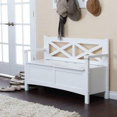 Contemporary Bedroom Benches by Hayneedle