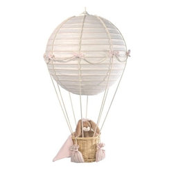 Mini Line Hot Air Balloon Nursery Lights - A larger scale hot air balloon with pale pink accents would be sweet in a little girl's room.