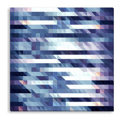 Gallery Direct - Kovalto1's 'Purple Triangles' Canvas Gallery Wrap - A framed and matted print by artist Kovalto1.