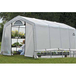ShelterLogic - Grow It Greenhouse-In-A-Box, 10x20x8 ft./3x6,1x2,4 m - The GrowIT Greenhouse-in-a-Box® with EasyFlow™ roll-up side vents delivers quality construction, quick and easy assembly and best in class value. Ready to build out of the box!