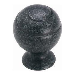Amerock - Spiral Ball Swirl'z Knob - Wrought Iron Dark (Set of 10) - Amerock Swirl'z® Knob. Spiral Ball. Wrought Iron Dark. Lifetime Finish. 1-1/8 in. W x 1-9/16 in. H (0.201 lbs)