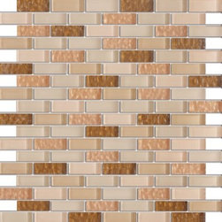 Vintrav Dark Champagne 1/2 in. x 2 in. Glass Mosaic Tiles, Sheet - Vintrav Dark Champagne 1/2 in. x 2 in. Glass Mosaic Tiles for Bathroom Floor, Kitchen Backsplash, unmatched quality, expert.
