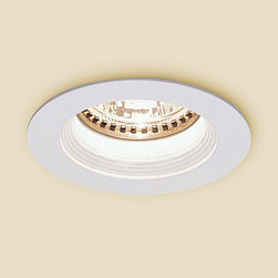 Nora Lighting - NM-244 Mini MR11 White Baffle Trim with Housing - Mini MR11 White Baffle Trim with Housing