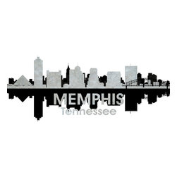 Memphis TN Black and White Concrete Jungle Print - This mixed-media artwork makes it easy to see things in black and white. Use it to show off your city pride, with digital and photographic layers that capture all the charm of the birthplace of the blues and home to Elvis Presley.