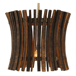 Wine Barrel Stick Chandelier, Medium