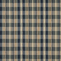 Blue And Beige, Textured Plaid Upholstery Grade Fabric By The Yard - Textured timeless plaids and stripes are excellent for all indoor upholstery.
