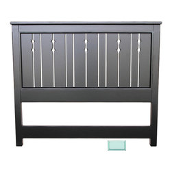 Cottage Home Collection - Cottage Queen Headboard, Aqua - Complete the regal look of your bed by incorporating this wonderful cottage queen headboard to it. This cottage house furniture piece comes with multiple finish option to match with your decor at best.