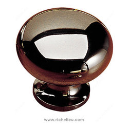 """Classic Solid Brass Knob - 3923 - 392391 - FinishBlack NickelScrew/Nail0.25""""Pulls and Knobs StyleClassicDiameter1.25""""MaterialSolid BrassProjection - Overall Dimensions1.188""""Packaging formatPer unit"""