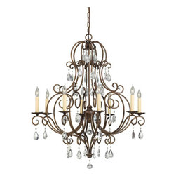 Feiss - Chateau Mocha Bronze Eight-Light Chandelier - Canopy Dimensions: 5 Rd Feiss - F2303/8MBZ