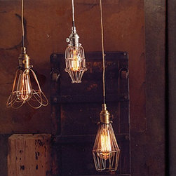 Workshop Pendants - I love the throwback form of this workshop inspired pendant. This type of fixture really only looks good with the Edison style bulbs, I would consider using this fixture in the hallway of a vintage home, come to think of it, it would look great  in the hall of our century old farmhouse!
