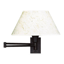 Kenroy - Kenroy 30110BRZ Simplicity Swing Arm Transitional Wall Sconce - Functional and stylish, our swing arms make it easy to direct light where you need it.  Adjust the arm to bring light to a bedside table or reading chair.  In a wide array of finishes and styles, these versatile swing arms are sure to lighten up any room.