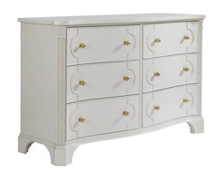 Stanley Furniture - Charleston Regency-Island House Dresser - The Island House Dresser features canted and reeded posts that terminate in acanthus leaf carvings, making it at home in a bedroom or hallway. Inspired by the rich, thick gloss of marine paints, this particular white has been infused with a drop of cream