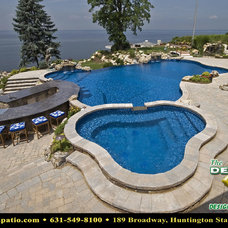 "Contemporary Pool by Deck and Patio Company ""Outdoor Living Experts"""