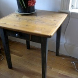 Square End Table With  Soldier Blue base - Made by http://www.ecustomfinishes.com