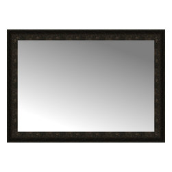 """Posters 2 Prints, LLC - 42"""" x 30"""" Mantilla Expresso Custom Framed Mirror - 42"""" x 30"""" Custom Framed Mirror made by Posters 2 Prints. Standard glass with unrivaled selection of crafted mirror frames.  Protected with category II safety backing to keep glass fragments together should the mirror be accidentally broken.  Safe arrival guaranteed.  Made in the United States of America"""