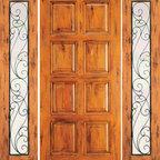 """Door with Two Sidelites Exterior Prehung Knotty Alder, 8-Panel - SKU#SW-87-52_1-2BrandAAWDoor TypeExteriorManufacturer CollectionWestern-Santa Fe Entry DoorsDoor ModelDoor MaterialWoodWoodgrainKnotty AlderVeneerPrice2454Door Size Options[30""""+2(18"""") x 80""""] (5'-6"""" x 6'-8"""")  $0[32""""+2(18"""") x 80""""] (5'-8"""" x 6'-8"""")  $0[36""""+2(18"""") x 80""""] (6'-0"""" x 6'-8"""")  +$10[42""""+2(18"""") x 80""""] (6'-6"""" x 6'-8"""")  +$100[30""""+2(18"""") x 96""""] (5'-6"""" x 8'-0"""")  +$426.4[32""""+2(18"""") x 96""""] (5'-8"""" x 8'-0"""")  +$426.4[36""""+2(18"""") x 96""""] (6'-0"""" x 8'-0"""")  +$436.4[42""""+2(18"""") x 96""""] (6'-6"""" x 8'-0"""")  +$636.4Core TypeSolidDoor StyleRusticDoor Lite StyleFull LiteDoor Panel Style8 PanelHome Style MatchingSouthwest , Log , Pueblo , WesternDoor ConstructionTrue Stile and RailPrehanging OptionsPrehungPrehung ConfigurationDoor with Two SidelitesDoor Thickness (Inches)1.75Glass Thickness (Inches)1/4Glass TypeSingle GlazedGlass CamingGlass FeaturesGlass StyleGlass TextureClearGlass ObscurityDoor FeaturesDoor ApprovalsDoor FinishesDoor AccessoriesWeight (lbs)850Crating Size25"""" (w)x 108"""" (l)x 52"""" (h)Lead TimeSlab Doors: 7 daysPrehung:14 daysPrefinished, PreHung:21 daysWarranty1 Year Limited Manufacturer WarrantyHere you can download warranty PDF document."""