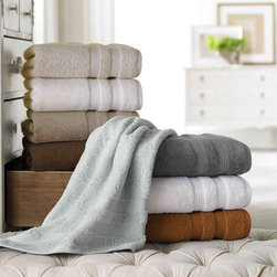 None - Ring Spun Cotton 600 GSM Quick Dry 6-piece Towel Set - Highly absorbent and quick drying,these plush 600 GSM towels are the ideal addition to any bathroom. Crafted with luxurious combed ultra-fine ring spun cotton,these soft towels will help you feel warm and relaxed.