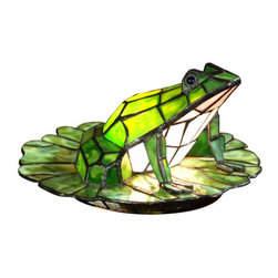 "Dale Tiffany - Dale Tiffany TA101231 12"" x 7.5"" Tiffany Frog Accent Lamp from the Accent Collec - 12"" x 7.5"" Tiffany Frog Accent Lamp from the Accent CollectionFeatures:"