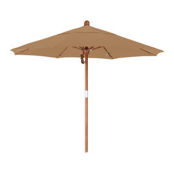 California Umbrella - 7.5 Foot Pacifica Fabric Pulley Open Wood Market Umbrella - California Umbrella, Inc. has been producing high quality patio umbrellas and frames for over 50-years. The California Umbrella trademark is immediately recognized for its standard in engineering and innovation among all brands in the United States. As a leader in the industry, they strive to provide you with products and service that will satisfy even the most demanding consumers.