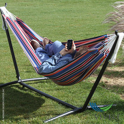 Vivere Double Polyester Hammock with Stand Combo - Vivere Double Polyester Hammock with Stand Combo