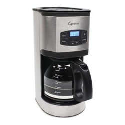 Jura Capresso SG120 12-Cup Coffee Maker - Stainless Steel - We're going to be a little bold for a second. You're going to love the Jura Capresso SG120 12-Cup Coffee Maker - Stainless Steel. There, we said it. It's true, though, you're going to love this coffee maker. It's got everything you need to brew that perfect cup, included 1 24-hour programmable timer, a GoldTone filter, special aroma settings that help create sublime coffee with supreme flavor. And for the forgetful, this maker automatically shuts of after two hours for safety. About CapressoLaunched in 1994, Capresso provides innovative coffee equipment for professionals and home users alike. In 2002, Capresso merged with Jura AG, a company founded in 1931 in Switzerland. Together, Jura Capresso began to introduce the finest automatic coffee centers to the U.S. market. With friendly, high-tech features like one-touch operation, interchangeable frothers, LED displays, and high-pressure brewing, Jura Capresso coffee machines have quickly become leaders in the industry. Through new, patented designs, their machines are constantly evolving to make it a pleasure for you to create delicious coffee with ease. Jura Capresso machines are beautifully designed to look great on your countertop, and are made with high-quality materials that are engineered for years of reliable performance.