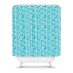 DENY Designs - DENY Designs Khristian A Howell Desert Daydreams 11 Shower Curtain Multicolor - - Shop for Shower Curtains from Hayneedle.com! Connect all the style dots with the modern and fun DENY Designs Khristian A Howell Desert Daydreams 11 Shower Curtain. Like bubbles in a glass of champagne these little dots instantly lift your mood. The soothing blue color palette makes your bathroom the most charming room in the house.About DENY DesignsDenver Colorado based DENY Designs is a modern home furnishings company that believes in doing things differently. DENY encourages customers to make a personal statement with personal images or by selecting from the extensive gallery. The coolest part is that each purchase gives the super talented artists part of the proceeds. That allows DENY to support art communities all over the world while also spreading the creative love! Each DENY piece is custom created as it's ordered instead of being held in a warehouse. A dye printing process is used to ensure colorfastness and durability that make these true heirloom pieces. From custom furniture pieces to textiles everything made is unique and distinctively DENY.