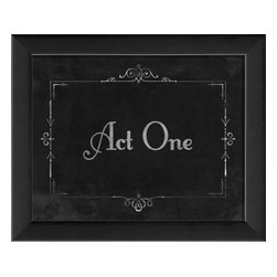 The Artwork Factory - Silent Movie Act One Framed Artwork - Ready-to-Hang, 100% Made in the USA, museum quality framed artwork