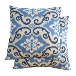 2-Piece Toss Pillow Set in Blue Scroll - I love the pattern on these fun pillows, and the price is equally fabulous.