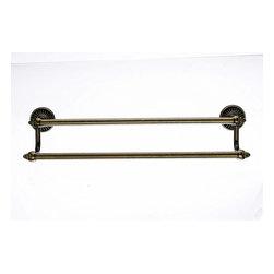 "Top Knobs Hardware - Tuscany Bath 18"" Double Towel Rod - Length - 20 1/2"""