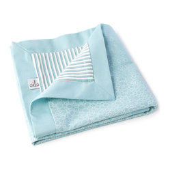 Raindrops Play Blanket, Aqua