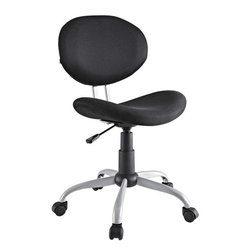 Modway - Gina Office Chair in Black - Make your office space work for you without the work. Let the simple sleek design guide you through a comfortable day at the office.