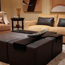 Contemporary Basement by Regina Sturrock Design Inc.