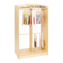 Whitneybrothers - Whitney Brothers Home Kids Children Hanging Bags Storage Unit - Hanging bag storage cabinet constructed of sturdy Birch laminate, the perfect solution to organize and protect your books, tapes and CDs. By placing frequently used items in the heavy-duty, see-through hanging bags, the item will be ready to use, easy to view and protected for years of use. The hanging bags shown are not included with the cabinet, but can be purchased separately. Three bag sizes available (small, medium and large), each set consist of 10 bags per individual size. Bags feature easy-zip, reseal-able tops, sturdy plastic bags and heavy duty hangers. Cabinet is RTA, Made in USA. GreenGuard Certified. Lifetime Warranty.