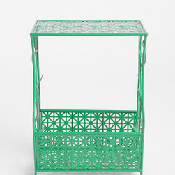 Flourish Storage Side Table, Green - Have a decidedly feminine space? This side table is lovely and definitely appeals to the girl in me.
