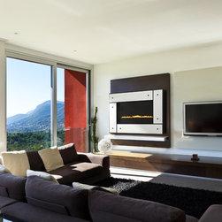 Heat & Glo Modern Series - REVO-H31 - Studio, Black, White Panel, Black Knobs