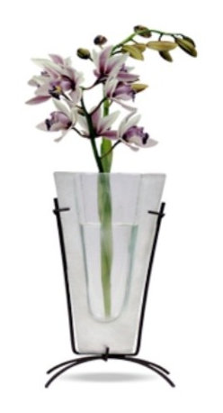 Bronze Age - Silver and White Rectangular Bud Vase - This gorgeous Silver and White Rectangular Bud Vase has the finest details and highest quality you will find anywhere! Silver and White Rectangular Bud Vase is truly remarkable.