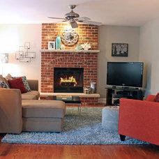 Transitional Living Room by CHAD ESSLINGER DESIGN