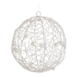 Silk Plants Direct - Silk Plants Direct Glittered Ball Ornament (Pack of 3) - Pack of 3. Silk Plants Direct specializes in manufacturing, design and supply of the most life-like, premium quality artificial plants, trees, flowers, arrangements, topiaries and containers for home, office and commercial use. Our Glittered Ball Ornament includes the following: