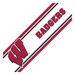 Trademarx Wall Decor - NCAA Wisconsin Badgers Accent Self-Stick Wall Border - Features: