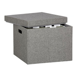 Felt File Box - Wrapped in gray felt, this simple yet sophisticated box would be a great way to add texture and warmth to a space — not to mention a stylish way to house documents!