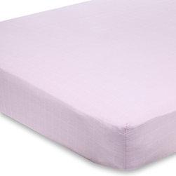 aden and anais - On Sale aden + anais For the Birds Solid Pink Crib Sheet - For the Birds Solid Pink Crib Sheet