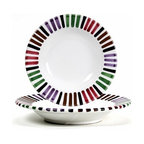 Artistica - Hand Made in Italy - BELLO: Rim Pasta/Soup plate - The Circo-Bello collection is an exclusive product from Deruta of Italy designed by Bill Goldsmith.