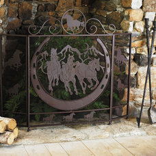 Eclectic Fireplace Accessories by Lone Star Western Decor