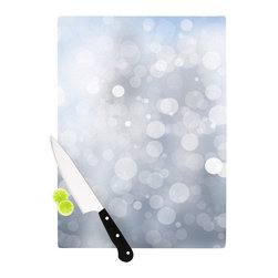"Kess InHouse - KESS Original ""Glass"" Gray Bokeh Cutting Board (11"" x 7.5"") - These sturdy tempered glass cutting boards will make everything you chop look like a Dutch painting. Perfect the art of cooking with your KESS InHouse unique art cutting board. Go for patterns or painted, either way this non-skid, dishwasher safe cutting board is perfect for preparing any artistic dinner or serving. Cut, chop, serve or frame, all of these unique cutting boards are gorgeous."