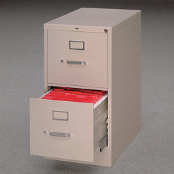 """HON - 510 Series Two-Drawer Letter Vertical File w/ Free Box of File Folders - 510 Series Four-Drawer Letter Vertical File Each filing unit is equipped with """"one key"""" interchangeable core-removal locks and is treated with rust prohibiting phosphates to guarantee the longevity of the commercial appearance. Specifically for letter-sized documents. Features: -Spring-loaded follower blocks to keep files upright. -High drawer sides for hanging folders. -Heavy-gauge steel. -Ten nylon rollers per drawer. -Covered by the HON Limited Lifetime Warranty. -Overall Dimensions:15"""" W x 25"""" D x 52"""" H."""