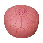 Leather Pink Pouf Ottoman - A pink pouf is obviously a winner.