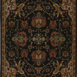 "Karastan - Karastan Crossroads 38260-15110 (Duval Black) 8'6"" x 11'6"" Rug - Shades of classic red, warm honey, indigo and black are featured in this Studio by Karastan(r) collection. Accents of dove gray, terra cotta, sage and ivory highlight the tribal Suzani's, classic Persian panels, timeless Sarouk's, transitional florals and modern ikats that make up this collection. Made of New Zealand woven wool, the Crossroads collection offers a wide variety of decorating possibilities in plush, durable constructions that will meet the demands of today's active lifestyles."