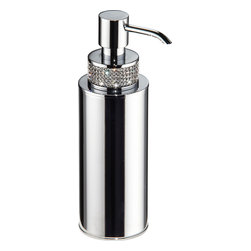 Table round soap dispenser with swarovski crystals - Made in Spain.