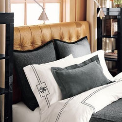 White Hotel Bedding - White Hotel Bedding has always been my favorite choice for linens. It's pure perfection with a black monogram.